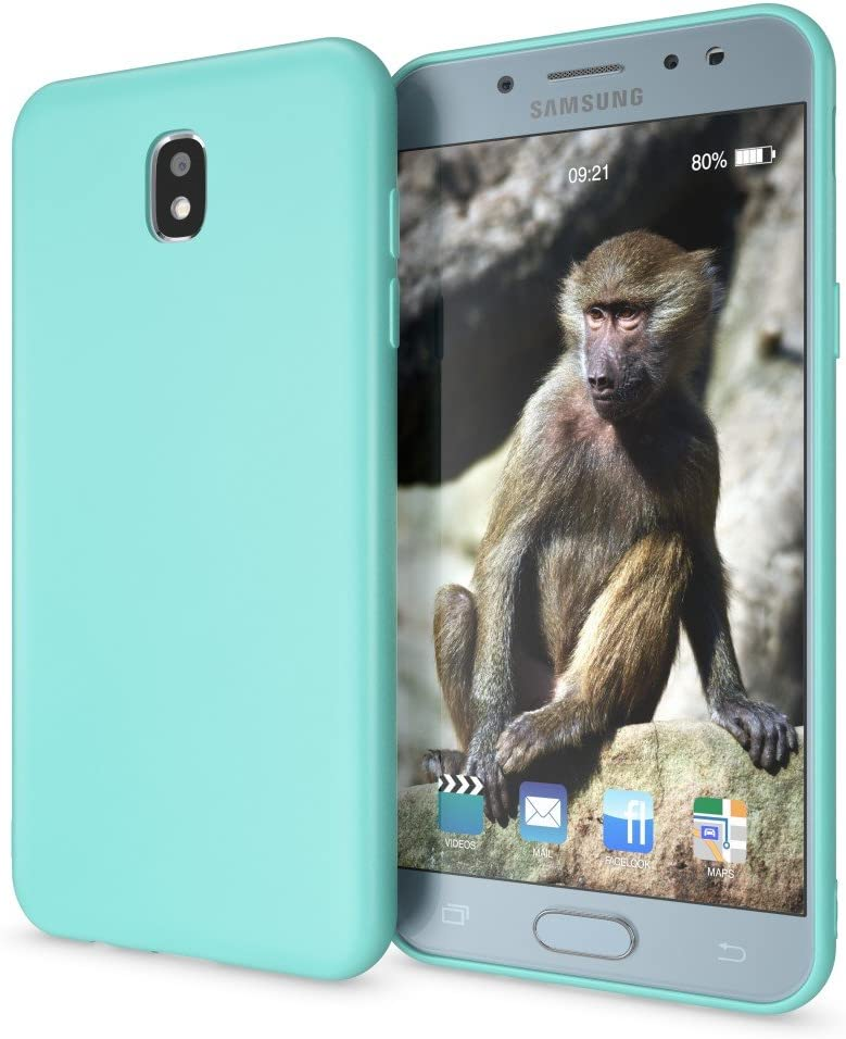 NALIA Funda Compatible con Samsung Galaxy J3 2017 (EU), Carcasa Protectora Movil Silicona Ultra-Fina Gel Bumper, Ligera Goma Cubierta Jelly Cobertura Delgado Cover Phone Case, Color:Turquesa