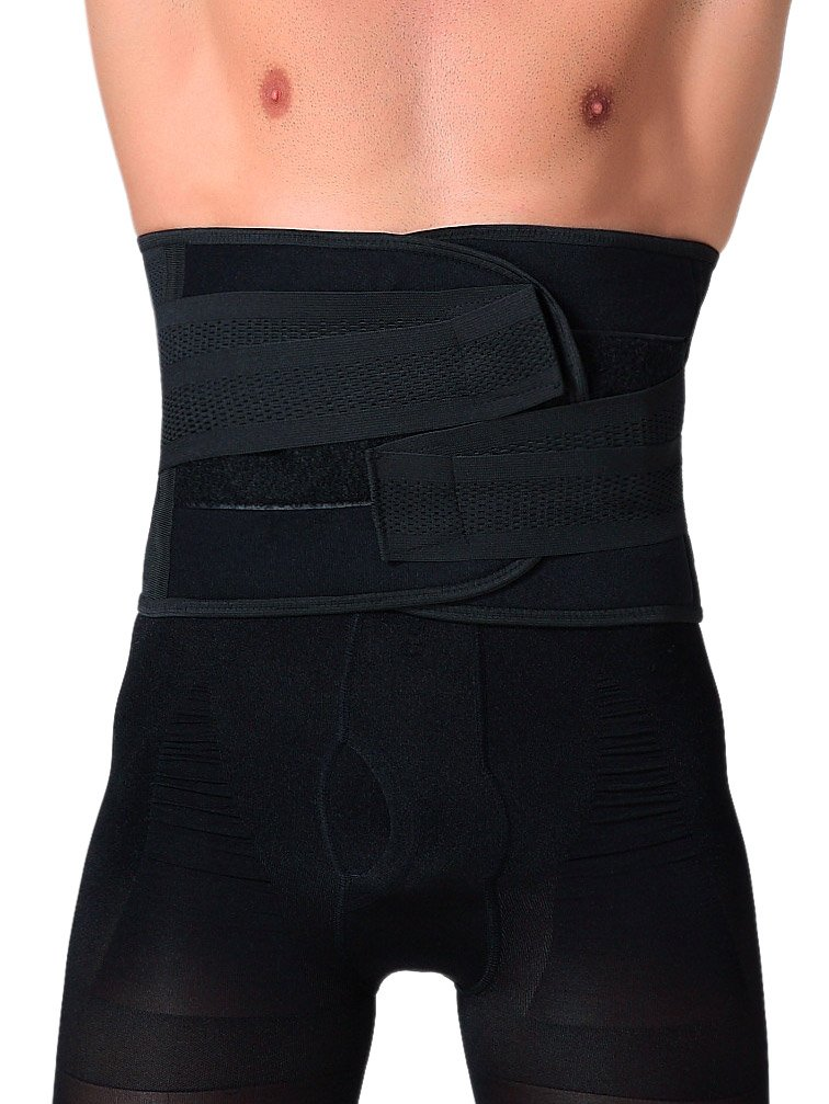 Panegy Compression Waist Cincher Trainer Breathable Waist Tummy Shaper Weight Loss Size XXL Black by Panegy (Image #1)