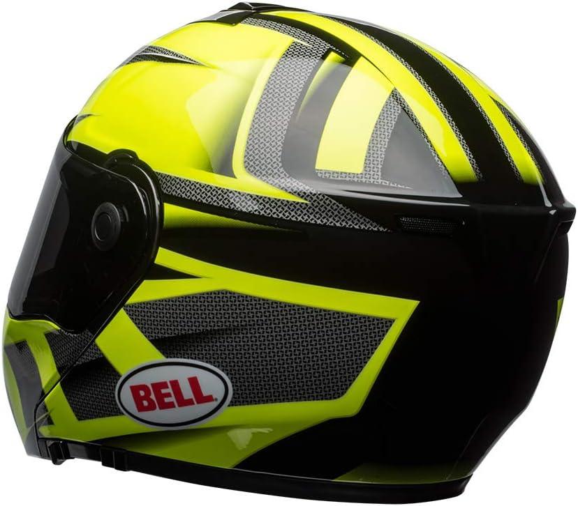 BELL HELMET SRT MODULAR PREDATOR HI VIZ GREEN//BLACK XL