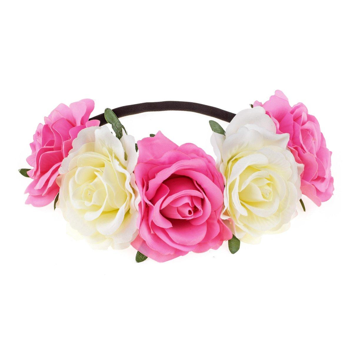Dreamlily Womens Hawaiian Stretch Flower Headband For Garland Party