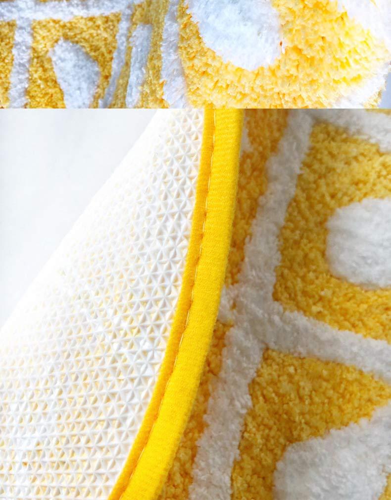 HYST Cartoon Panda/Pineapple Carpet Water Absorption Non-Slip Bedroom Bathroom Door Mat (Pineapple M)