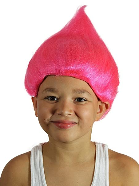 My Costume Wigs Boyu0027s Treasure Troll Costume (Hot Pink) One Size fits all  sc 1 st  Amazon.com : treasure troll costume  - Germanpascual.Com