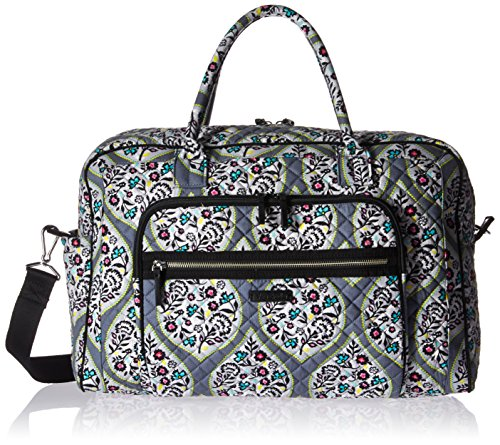 Vera Bradley Women's Iconic Weekender Travel Bag-Signature, Heritage Leaf