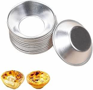 RAYNAG 20 Pack Mini Pie Muffin Cupcake Pans Egg Tart Bakeware Non-Stick Baking Cups
