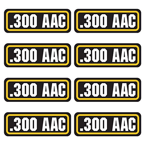 AZ House of Graphics 300 AAC Ammo Sticker 8 Pack - Laminated Can Box Vinyl Decal Bullet Army Gun Safety Hunting Label