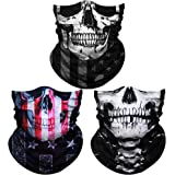 Seamless Skull Face Mask Bandana, Face Covering Scarf, Neck Gaiters for Men Women, Sun UV Dust Wind Protection