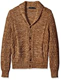 Nautica Men's Mixed Knit Shawl Collar Cardigan, Oyster Brown, XL