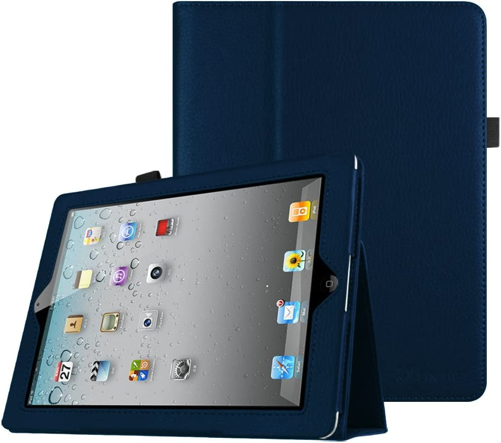 Fintie Folio Case for iPad 2 3 4 (Old Model) 9.7 inch Tablet - Slim Fit Smart Stand Protective Cover Auto Sleep/Wake for iPad 2, iPad 3rd gen & iPad 4th Generation with Retina Display, Navy