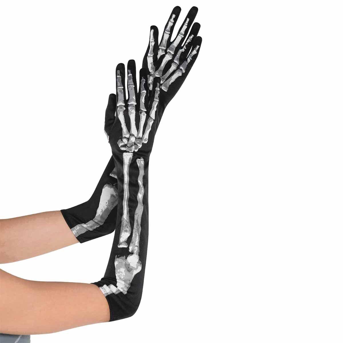 Amscan Halloween Accessoire Verkleidung Skelett Handschuhe Kostüme 841439