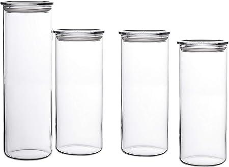 Contenido : 1 frasco con tapa de plástico de conservación ; 3 frascos con la conservación de la tapa