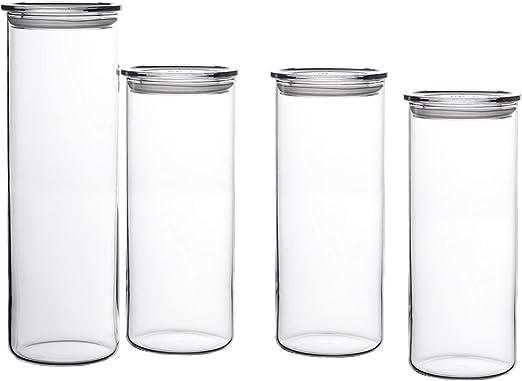 Bohemia Cristal - Tarros para conservar alimentos (4 unidades, (1 ...