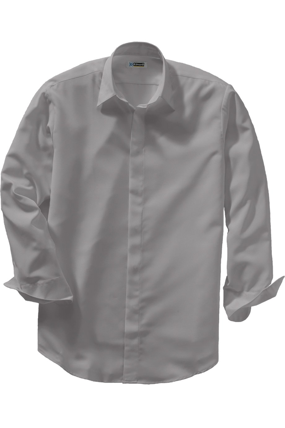 Edwards Garment Men's Big And Tall Adjustable Cuff Cafe Shirt_PLATINUM_XXXXX-Large Tall by Edwards Garment