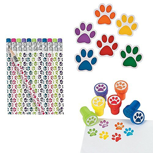 Paw Print Variety Pack: Pencils, Paper Notepads, and Stampers