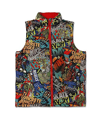 Nike SB Boy's 8-20 (Skateboarding) Reversible Sleeveless Vest Jacket Limited Edition (Large, Grey) (Vest Sleeveless Reversible)