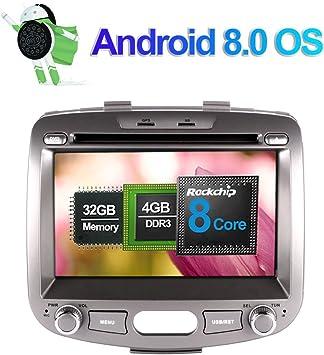 7 Zoll 4gb Ram Android 8 0 Autoradio Stereo Cd Dvd Multimedia Player Für Hyundai I10 2007 2013 Mit Bluetooth Gps Navigation 32gb Rom Unterstützung Fm Am Rds Av Out Wlan 4g Kamera Eingang Amazon De