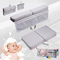 PRESIPIS Bath Kneeler and Elbow Rest Baby Accessories–2.1inch Comfortable Extra Cushion–Bathtub Accessories for Baby…