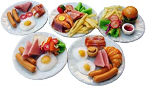 Mixed 5 Assorted Breakfast Sausage Dollhouse Miniature Food, Food Sets, Collectibles