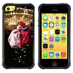 LASTONE PHONE CASE / Suave Silicona Caso Carcasa de Caucho Funda para Apple Iphone 5C / Design Circues Friends
