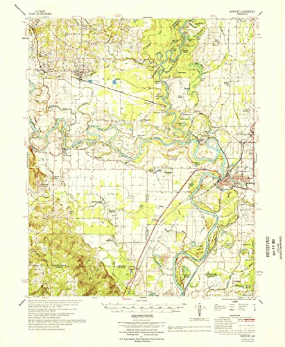 YellowMaps Newport AR topo map, 1:62500 Scale, 15 X 15 Minute, Historical, 1966, Updated 1966, 21.9 x 18 in - Polypropylene