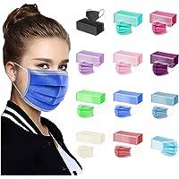 TEGT 50 stuks wegwerp-mondbescherming, uniseks, gezichtsbescherming, neusbescherming, zijde, ademend, antibacterieel…