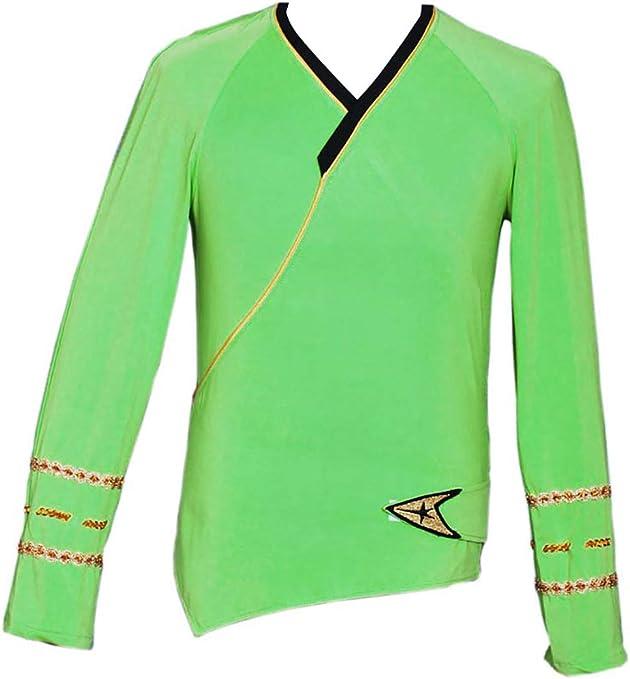 Star Trek Cosplay Disfraz Verde Wrap Command Camisa - Verde - X ...