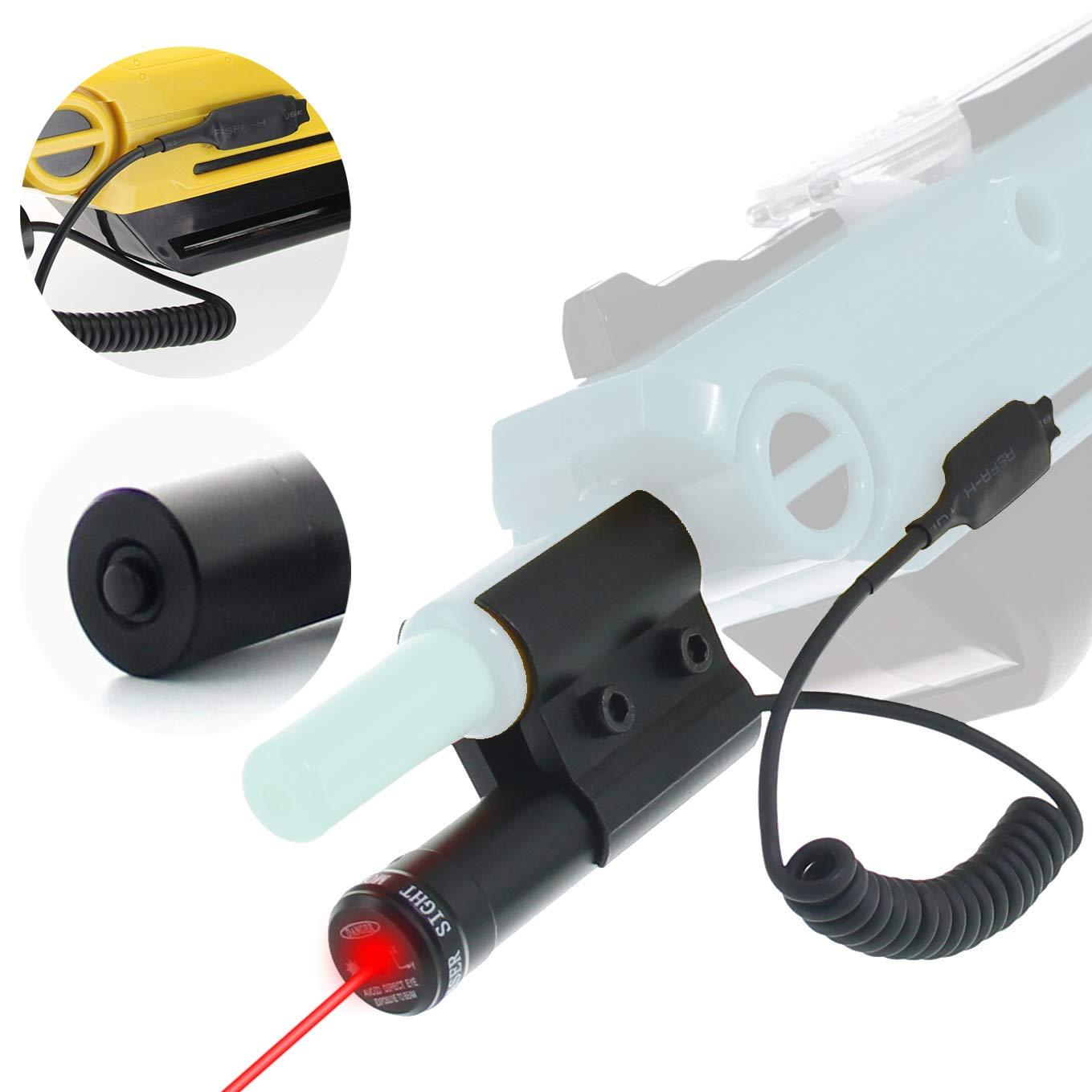 AUROLUXE Bug A Salt Gun 2.0 Laser Sight Beam with Pressure Switch | Bug & A Fly Salt Gun Accessory | Aiming Scope Shotgun Fit All Fly Shotgun Edition Add-On | Lawn & Garden Insect Eradication