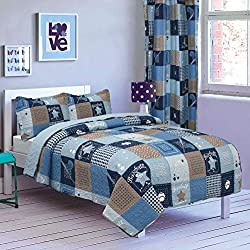 All American Collection 2 Piece New Printed Luxlen Modern Bedspread Coverlet Set, Bedspread, Baseball Champions, Twin