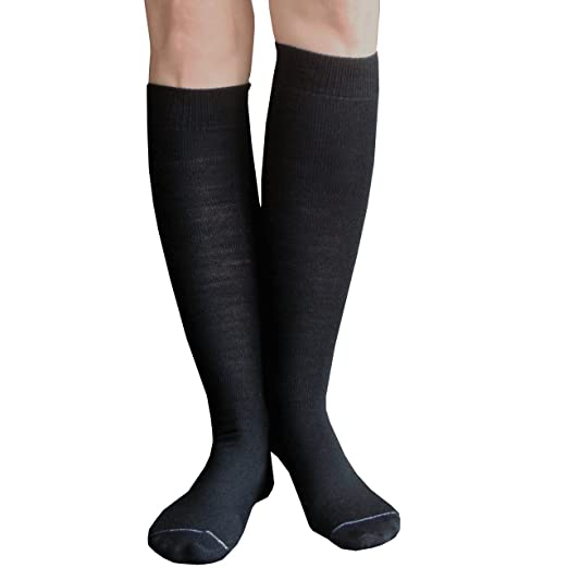 7545a653123 Chrissy s Socks Women s Thin Solid Knee High Socks 7-11 Black at ...