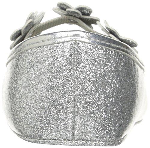 Pictures of Nine West Girls' PHOEBEFLOR Flat Silver 3 Silver 3 M US Infant 8