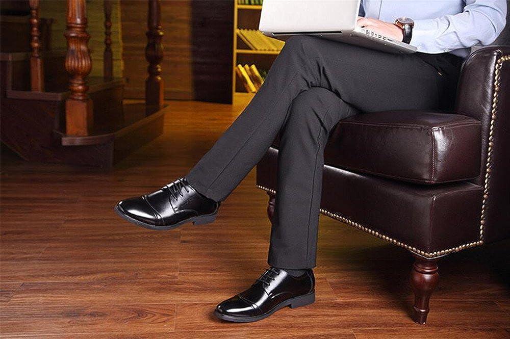 YUBUKE Mens Shoes Retro Dress Shoes Fashion Breathable Business Casual Shoes