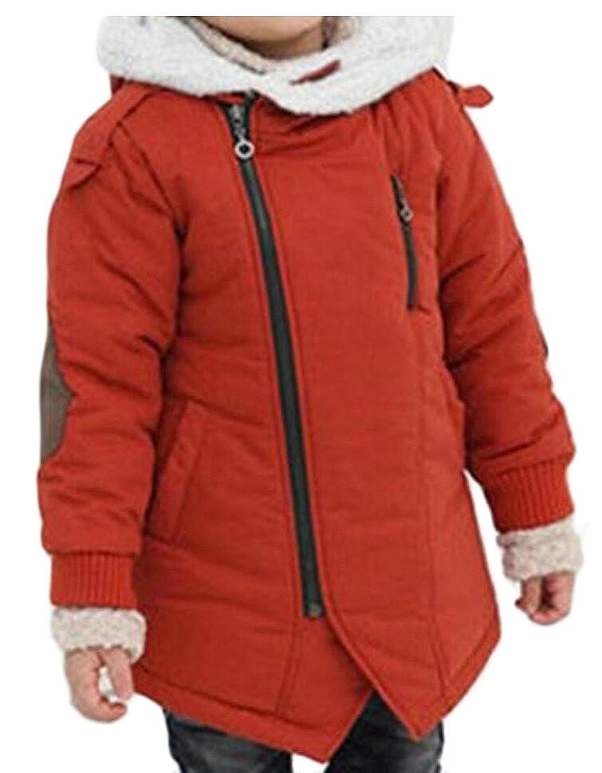 desolateness Boys Fashion Long Sleeve Quilted Fleece Jacket Coat