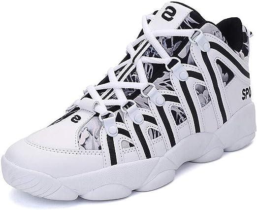 XIANGYANG Zapatillas de Voleibol, Zapatillas de Voleibol Unisex Zapatillas de Correr Ligeras Zapatillas de Baloncesto de caña Alta,A,36: Amazon.es: Hogar