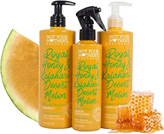 product image for Not Your Mothers Naturals Royal Honey & Kalahari Desert Melon Hair Care Set, Shampoo, Conditioner, Leave-In Spray (Pack of 3)
