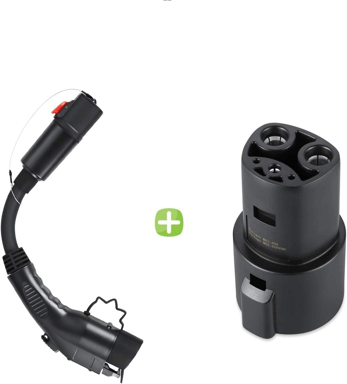 Lectron J1772 to Tesla Charging Adapter 60A /& 250V AC Compatible with SAE J1772 Chargers Black