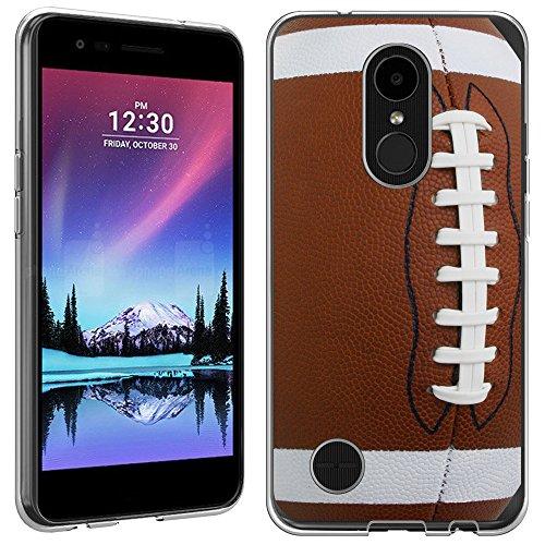 LG K20v case - [Football] (Crystal Clear) PaletteShield Soft Flexible TPU gel skin phone cover (fit LG K20v/ K20 Plus)