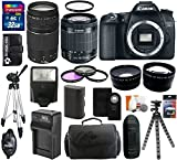 Canon EOS 70D 20.2 MP Digital SLR Camera with Dual Pixel CMOS AF Body and EF-S 18-55mm F3.5-5.6 IS STM + Accessories Kit With Canon Zoom Telephoto EF 75-300mm f/4.0-5.6 III Autofocus Lens + 32GB Card + Bag + Spare Battery & Charger + Flash + Telephoto & Wide Angle Lenses + UV Filter + Accessory Bundle