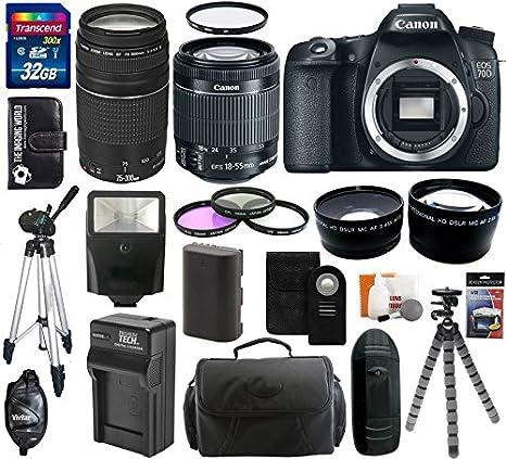 Canon EOS 70d 20,2 MP cámara réflex digital con doble Pixel CMOS ...