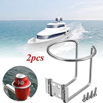 Stainless Steel Ring Cup Drink Water Bottle Holder For Marine Boat Yacht RV