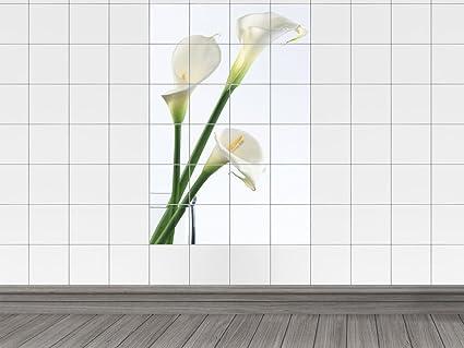Piastrelle adesivo piastrelle immagine calla fiori nel vaso di