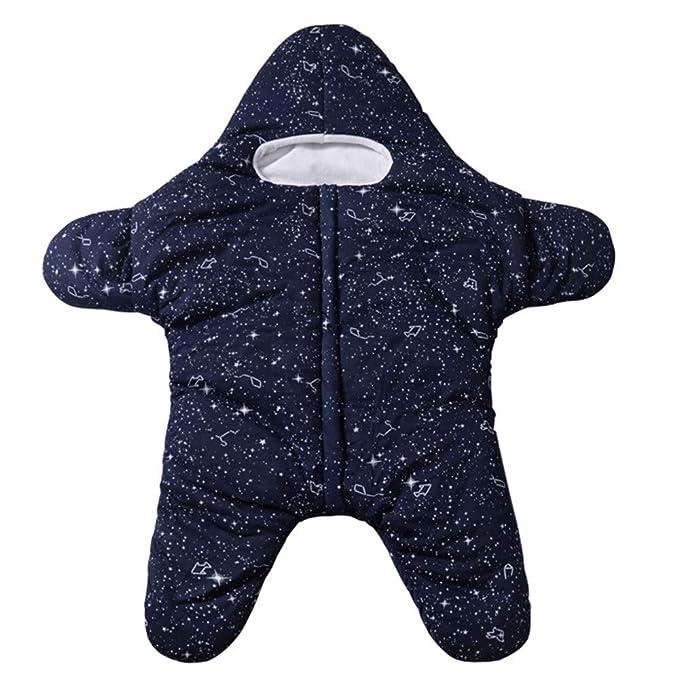 Mitlfuny Invierno Grueso Swaddle Wrap Aire Libre Saco de Dormir para Bebé Niños Estrellas De Mar