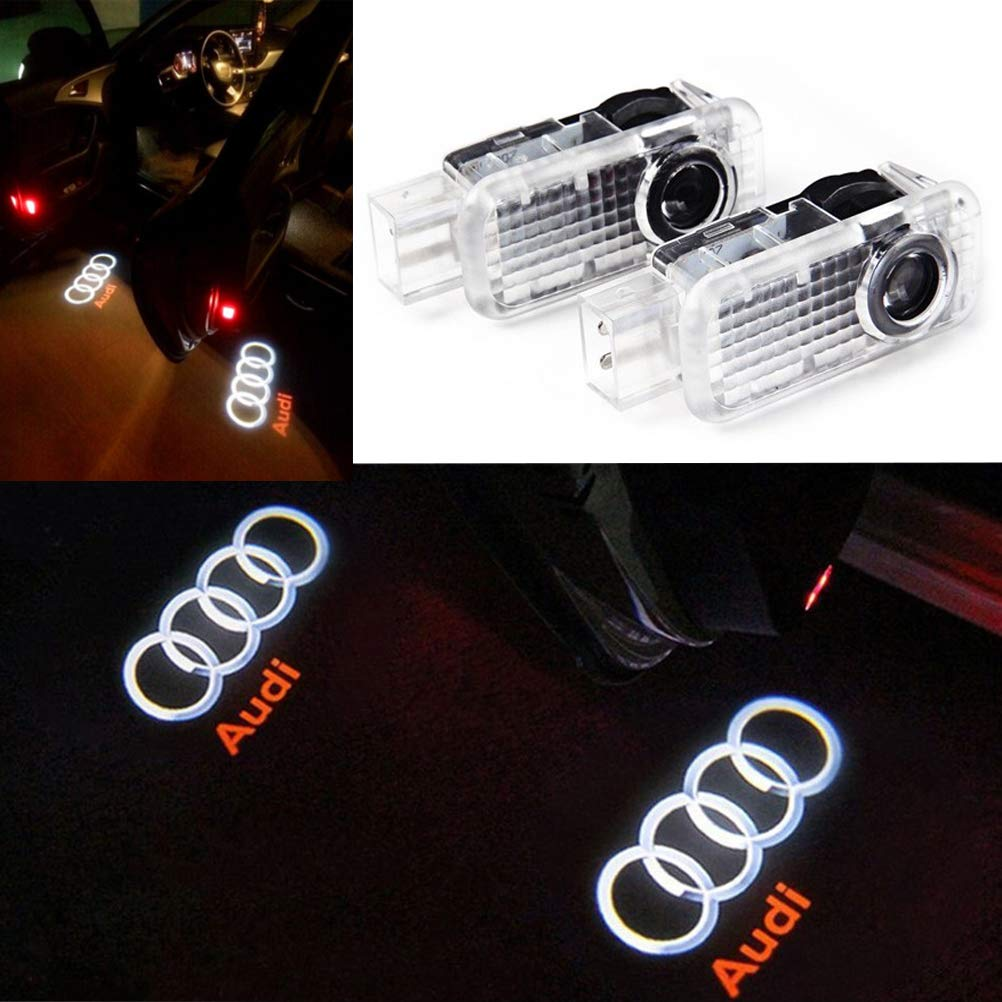 ZYDTrip 2 Pieces Car Logo Door Lighting Entry Lamp Projection Light