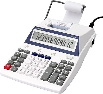 Olympia CPD 445 - Calculadora (impresora, 12 dígitos, pantalla LCD ...