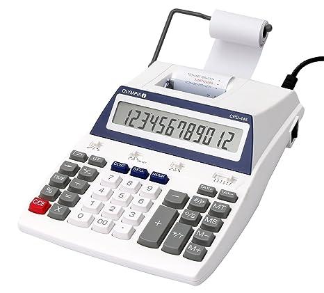 Olympia CPD 445 - Calculadora (impresora, 12 dígitos, pantalla LCD, 275,