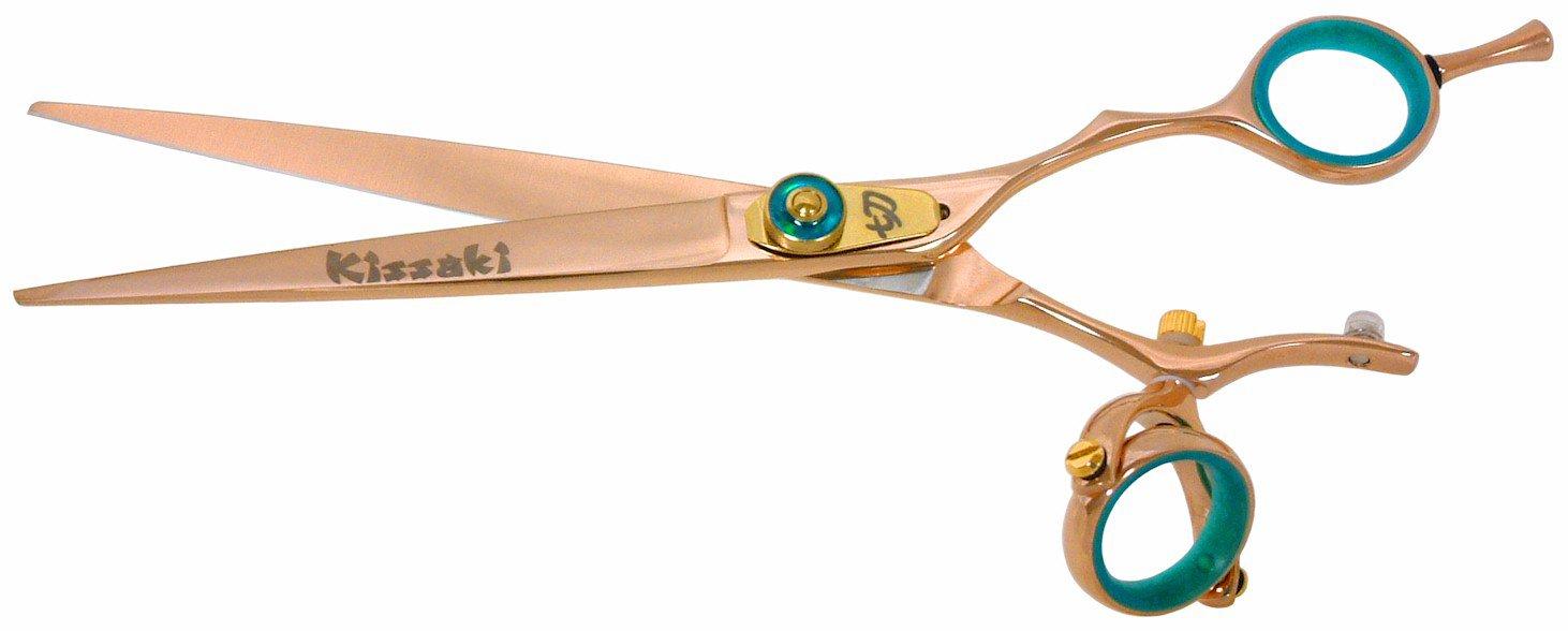 Kissaki Hair Scissors Gokatana 7.0'' Double Swivel Rose Gold B Titanium Hair Cutting Shears by Kissaki (Image #2)