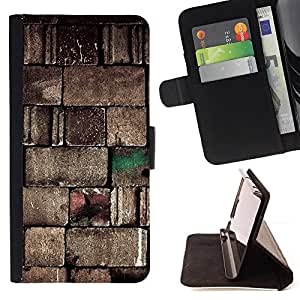 Jordan Colourful Shop - wall stone design blocks art architecture For Apple Iphone 6 PLUS 5.5 - < Leather Case Absorci????n cubierta de la caja de alto impacto > -