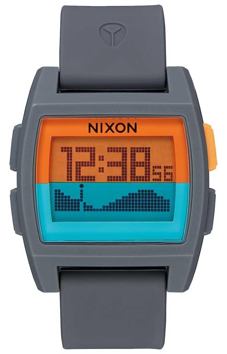 Nixon Base Tide Watch - Grey / Orange / Teal