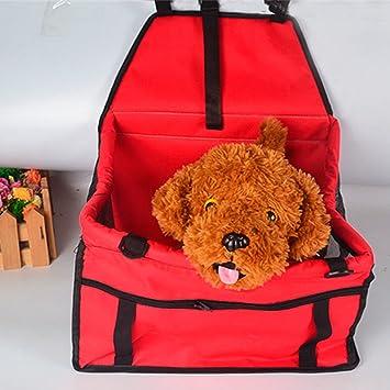 Treat Me Transportín coche para Viajar con Perros Bolsa de Transortin perro llevar gatos en coche ROJO: Amazon.es: Productos para mascotas