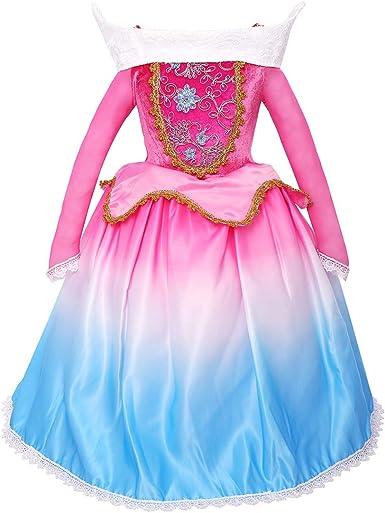 Disfraz de Aurora para niñas de princesa, disfraz, fiesta de ...
