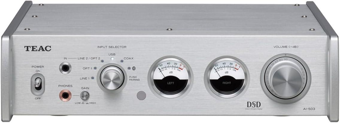 Teac AI503S USB-DAC Premain Amplifier DTV Converter, Silver
