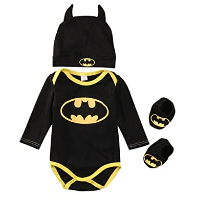 52ea5e903c89 Amazon.com  TallyWear USA Batman Newborn Baby Boys Infant Rompers+ ...
